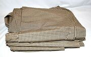 Vintage Black And Beige Gingham Check Cotton Blend 56 Wide Fabric 15 Yards 18