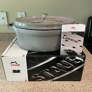 Staub Cast Iron 8.5qt Oval Dutch Oven French Cocotte With Lid Graphite Nib