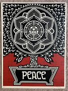 Obey Peace Tree Print By Shepard Fairey Signed And Numbered