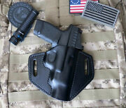 Fits Springfield Hellcat Rdp Holster, Rapid Defense Package, Leather, Pancake