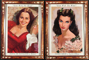 Gone With The Wind Movie Poster 4 Artwork Lobby Displays Very Rare Unused Framed