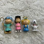Peanuts Nativity Scene / Christmas Pageant 4 Figures Snoopy Charlie Brown Lucy