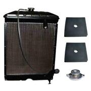 New C5nn8005ab Radiator W/ Cap And Pads Fits Ford 2000 4000 Naa Jubilee 600 700 80