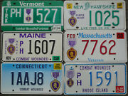 Purple Heart License Plates Collection From New England