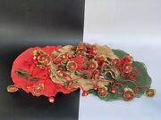 Htf Retired Mackenzie Childs Holiday Christmas Placemats And Napkin Holders