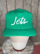 Vintage 80s New York Jets Nfl Sports Specialties Wool Hat Snapback Youngan