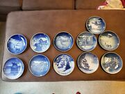 B And G Bing And Grondahl 1921 Christmas Plate 7 1/4 Inch Delft