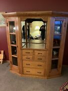 Vintage Early 1900andrsquos Oak Hutch Excellent Shape Refurbished