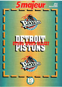 1996 Detroit Pistons 14 Page Mini Book From French Magazine A011