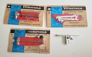 Marx Pocketools 1960s Pocket Tools Hammer Wrenches Square Ball Peen Card Package