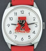 Vintage 1970and039s Lafayette Wind-up Alabama Crimson Tide Football Character Watch