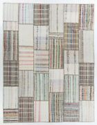 10x13 Ft Patchwork Rug Made From Assorted Vintage Kilims