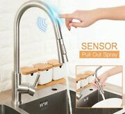 Sensor Kitchen Sink Taps Pull Out 360° Smart Touch Control Single Level Mixer
