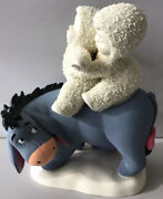 """Rare Dept. 56 Snowbabies With Disney Eeyore """"riding With Friends"""" Figurine New"""