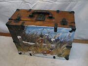 Vintage Hand Painted Box Ringneck Pheasant Game Bird Hunting Home Cabin Decor