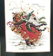 Dimensions The Gold Collection Windswept Santa 8449 Counted Cross Stitch Kit New