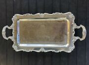 W And S Blackinton Silver Plate Victoria 239 Footed Serving Tray