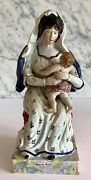 Early Staffordshire Pearlware Virgin Mary Madonna Child Spectacular Piece