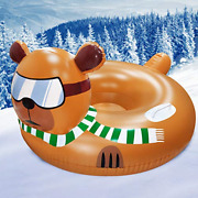 Turnmeon 47andrdquo Giant Snow Tube Winter Inflatable Snow Sled For Kids Adults With