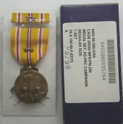 Ww Ii Asiatic Pacific Campaign Medal Set In Gi Issue Box With 2 Battle Stars