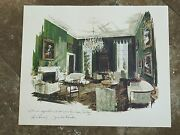 Authentic John F Kennedy 1963 Large White House Christmas Print Staff Gift 1963