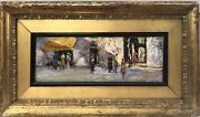 Italian Important Well Listed Artist 1920s Oil Painting Andldquoat The Market Placeandrdquo