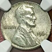 1964 Cent Struck On Silver Dime Planchet Ngc Ms-63 Off-metal Mint Error