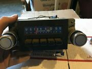 1977 Ford Full Size Am Radio Stereo Tape Aeronutronic W/ Knobs Untested Damaged