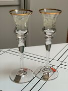 Mikasa Antique Lace T2719 Candlesticks Candleholders New In Box 7-3/4 Tall Mint