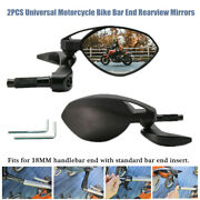 2andtimesscrews Motorcycle Handle Bar End Side Mirrors Electric Scooter Hand Guard 18mm