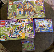 Lego Friends Mia's House 41369, Pool 41313, Turtles 41376 And 30412 Lot Of 4 New