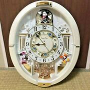 Seiko Wall Clock Trick Mickey And Friends Disney Time Analog 12 Song Melody White