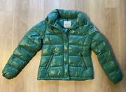 Moncler Everest Down Puffer Jacket Green Ladies Zip Quilted Size 2 Vintage