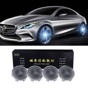 4pcs 75mm Self-powered Floating Led Wheel Hub Light Caps For Mercedes-benz Black