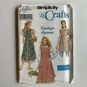 Simplicity 8372 Vintage Apron Sewing Pattern Heigl And Nordstrom S-xl Cottagecore