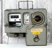 Vintage Electricity Meter Prepayment Coin Money Operated Electric Retro B