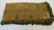 """1680 Etro Italy """"home Collection"""" Throw Blanket / Multicolor Paisley / Oriental"""