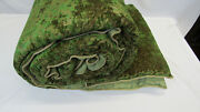 3480 Etro Italy King Size Comforter / Emerald Green And Gold - 71 Viscose
