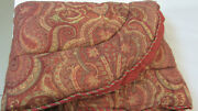 3180 Etro Italy Home Collection King Size Comforter / Wine And Green Paisley