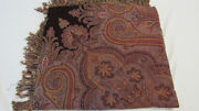 """1290 Etro Italy """"home Collection"""" Throw / Wine Red Paisley - 70 Wool 30 Silk"""