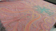 """1290 Etro Italy """"home Collection"""" Throw / Teal Pink Paisley - 70 Wool 30 Silk"""