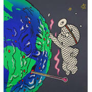 Trouble Andrew Helping Hand Ghost 61cmx50.5cm Limited Edition