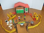 Vintage Playmobil 3775 Pony Ranch With Accessories