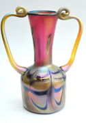 Gold Luster Vase With Pink And Gold Roman Design. Saul Alcaraz.