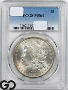 Ms64 Common Date Morgan Silver Dollar Pcgs Mint State 64 Dates Vary Some Tone