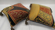 725 Etro Italy Home Collection Decorative Pillow Set X2 / Multicolor Paisley