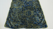 925 Etro Italy Home Collection Decorative Pillow Set X2 / Blue And Gold-viscose