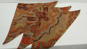 1425 Etro Italy Home Collection Decorative Pillow Case Set X3 / Red Paisley