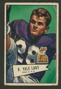 1952 Bowman Small 140 Yale Lary G/vg Detroit Lions And Texas Aandm Rookie Card