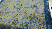 """1180 Etro Italy """"home Collection"""" Throw Blanket / Royal Blue And Gold Viscose"""